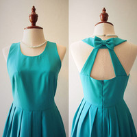 LOVE POTION - Jade Green Dress Jade Green Cocktail Party Dress Backless Dress Bridesmaid Dress Sundress Rustic Wedding Dress