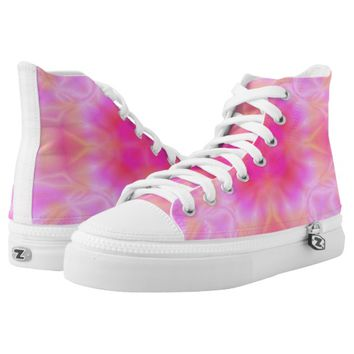 Pink Flare Printed Shoes