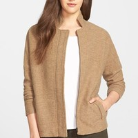 Women's Eileen Fisher Stand Collar Boiled Merino Wool Jacket,