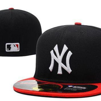New York Yankees New Era Mlb Authentic Collection 59fifty Cap Black Red