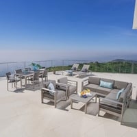 Coral Bay Outdoor Wicker Dining Set w/ Sofa Set, Club Chairs, & Lounges