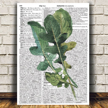 Food decor Kitchen print Herb poster Watercolor print RTA1688