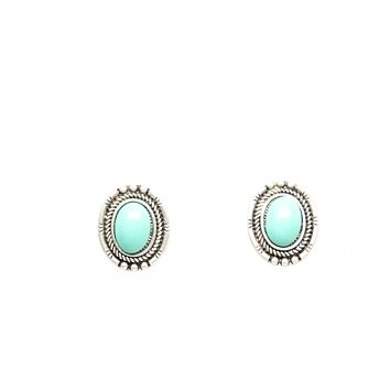 Turquoise Stud Fashion Earrings