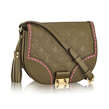 Louis Vuitton Monogram Empreinte Junot Shoulder Cross Body Handbag Rose Khaki Article:M43146