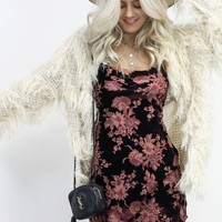 My Rules Cream Shaggy Fringe Coat
