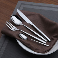 Finest Quality Simple Style Stainless Steel Silver  24 pieces/lot Cutlery Set,Modern Design Tableware for Family & Restaurant