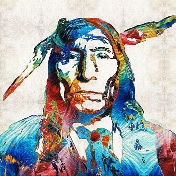 Native American Art By Sharon Cummings Poster