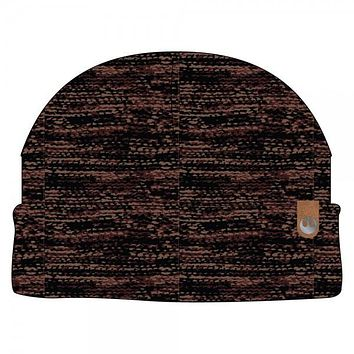 Rebel Leather Label Metal Watchmen Knit Cap