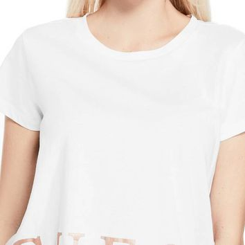 Yahya Foil Logo Tee at Guess