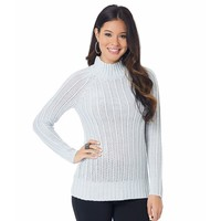 daisy fuentes Textured Turtleneck Sweater