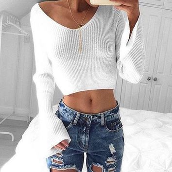 Eva Sweater - Women Casual Long Sleeve Knitted Pullover Loose Sweater Jumper Tops Knitwear