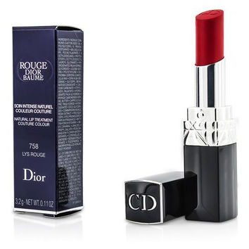 Christian Dior Rouge Dior Baume Natural Lip Treatment Couture Colour - # 758 Lys Rouge --3.2g/0.11oz