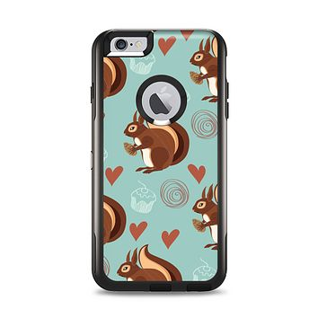 The Vector Love & Nuts Squirrel Apple iPhone 6 Plus Otterbox Commuter Case Skin Set