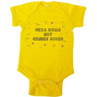 Pizza Rolls Not Gender Roles -- Baby Onesuit