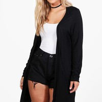 Plus Orla Jersey Pocket Cardigan | Boohoo