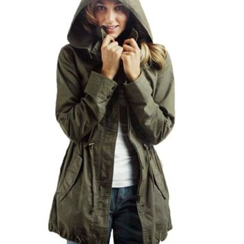 Army Green Hooded Jacket