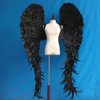 Large Black Devil Angel Wings Wedding Club Cosplay Costume