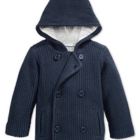 First Impressions Baby Boys' Hooded Peacoat