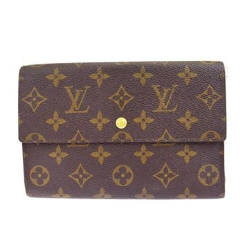 Auth LOUIS VUITTON Pochette Passport Long Trifold Wallet Monogram M60135 08BE973