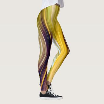 Sea Shell Yellow Driving Dreams Leggings
