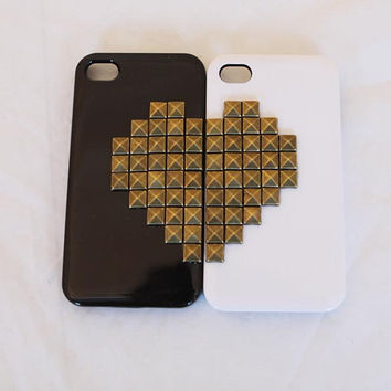 2 pieces iphone 5 case iphone 4 /4s case rivet by MakeDesertGreen