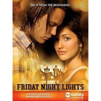 Friday Night Lights poster Metal Sign Wall Art 8in x 12in