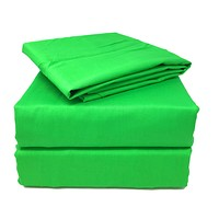Tache 2-3 Piece 100% Cotton Lime Green Solid Duvet Cover Set (TA2-3PDUV-Green)