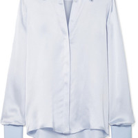 Roksanda - Kanika silk-blend satin-seersucker shirt