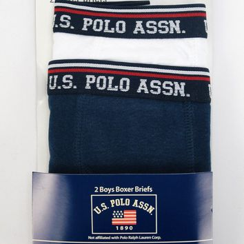 U.S. Polo Assn.(R) Boys 2-Pack Boxer Briefs - Size 6-7-16-18 - CASE OF 48