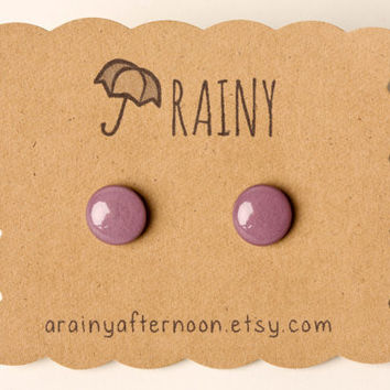 Mauve Purple Post Earrings