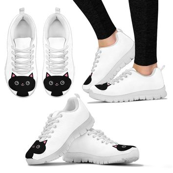 Black Cat Women's Sneakers