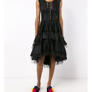 NATASHA ZINKO   Ruffle Skirt Midi Dress   brownsfashion.com   The Finest Edit of Luxury Fashion   Clothes, Shoes, Bags and Accessories for Men & Women