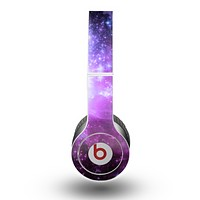 The Purple Space Neon Explosion Skin for the Beats by Dre Original Solo-Solo HD Headphones