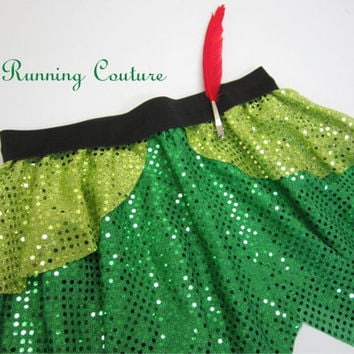 Peter Pan inspired Sparkle Running Misses round skirt  Tigger Lily, Tinkerbell