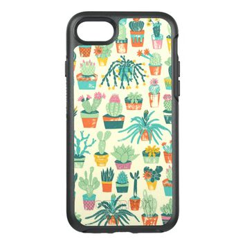 Cactus Flower Pattern OtterBox Symmetry iPhone 7 Case