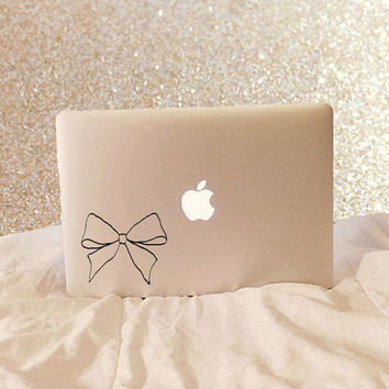 Bow - Bow Decal - Bow Laptop Decal - Vinyl Decal - Laptop Decal - Laptop Sticker - Macbook Decal - Macbook Sticker - Car Decal - Car Sticker