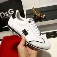Dolce & Gabbana new personality men's wild trend casual sports shoes White