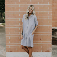 Reid Stripe Dress in Coal
