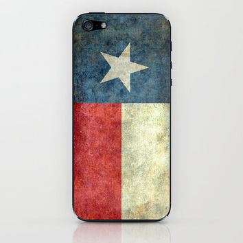 """The """"Lone Star Flag"""" of Texas iPhone & iPod Skin by Bruce Stanfield"""