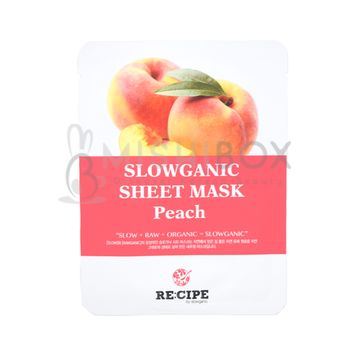RE:CIPE Slowganic Sheet Mask (Peach)