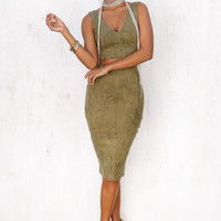 Buy Khaki Tempt Set Online by SABO SKIRT
