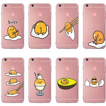 Cute Gudetama Lazy Egg Soft TPU Silicone Case Cover For Apple iPhone X 8 7 6 6S Plus 5 For Samsung Galaxy S7 S8 S9 s6 s5