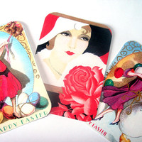 Gorgeous Art Deco Ladies Gift Tags Set of 9