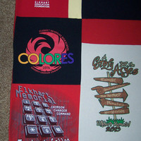 Memory Quilt, T-Shirt Quilt custom made from your shirts! Lap size quilt