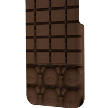 Best 3D Full Wrap Phone Case - Hard (PC) Cover with Rilakkuma Bear Chocolate Bar Design