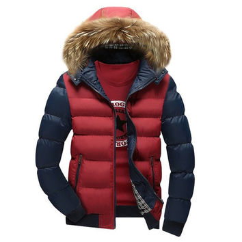 New Arrival Men Jacket Warm cotton coat mens casual hooded jackets Handsome Outwear thicking Parka Plus size XXXL Coats