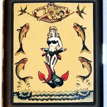 Retro Tattoo Mermaid Sharks Nautical Sailor by sweetheartsinner
