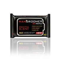 MANGROOMER Biz Wipes Flushable Moist Personal Wipes Engineered for Men, Executive Scent, 50 Count Packs (Case of 6) 300 Wipes Total   deviazon.com