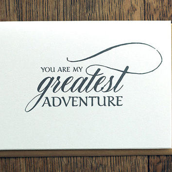 You Are My Greatest Adventure | Wedding Card