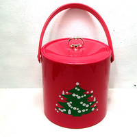 Mr, Ice, Bucket, Christmas, Party, Drinks, Holiday, Serving, Dining, Dinner, Xmas, Retro, Tree, Hosting,Family, Friends, Decor, Kitchen,Ware